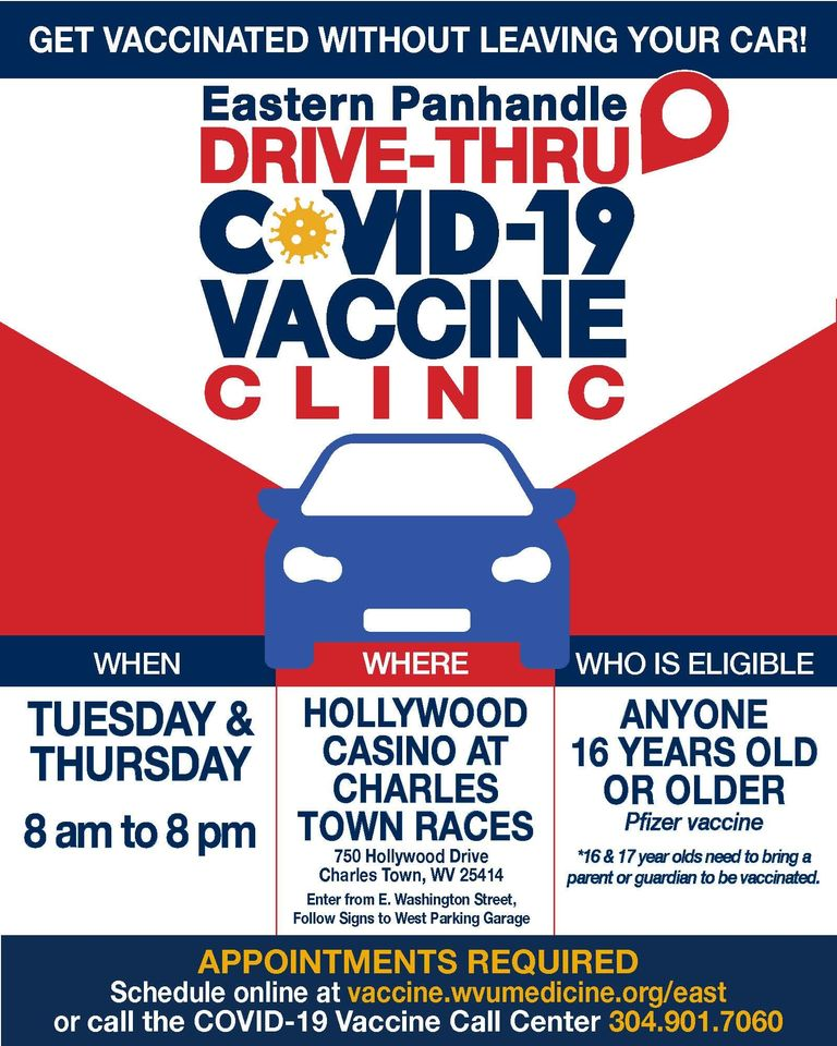 Drive-thru COVID vaccine clinic information