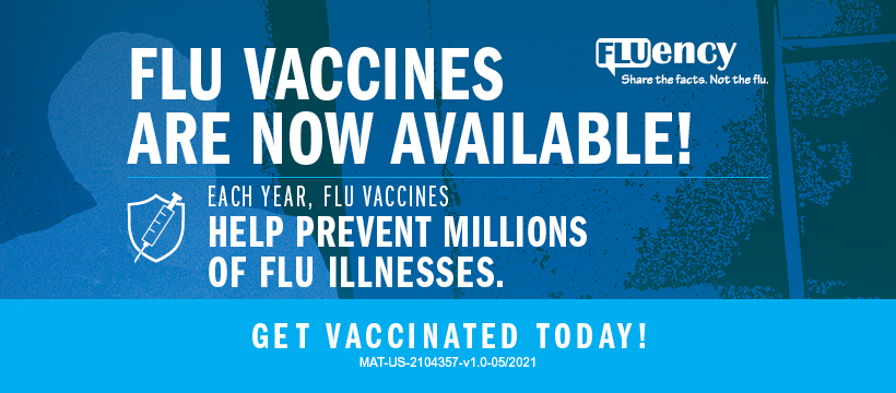 Flu shots are now available